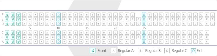 terminal 5 seat map Air Busan terminal 5 seat map